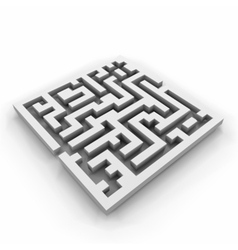 a maze labyrinth vector image