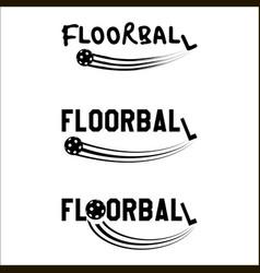 Floorball logo text vector