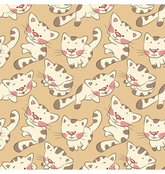 kittens seamless pattern vector image vector image