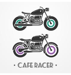 Two retro motorcycles vector image