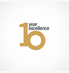10 year anniversary excellence template design vector image