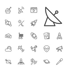 22 space icons vector
