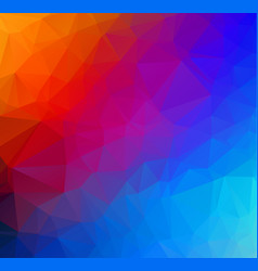 abstract multicolor geometric rumpled triangular vector image