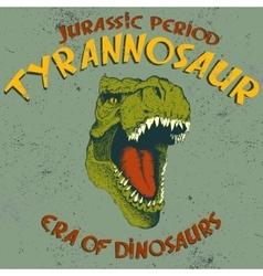 Aggressive tyrannosaurus head vector