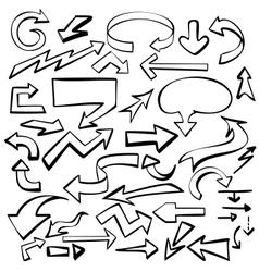 arrows set sketch vector image