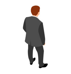 Back of businessman icon isometric style vector
