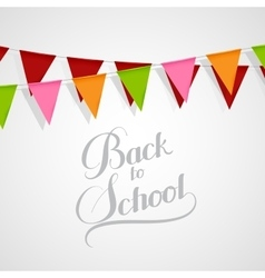 Back To School retro label vector image