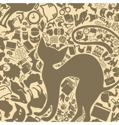 background of the veterinary icons vector image