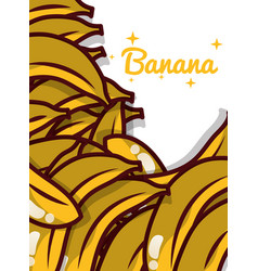banana fruit juicy sweet poster vector image
