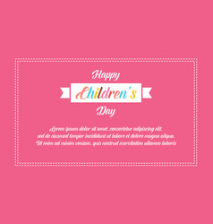 Banner style childrens day collection vector