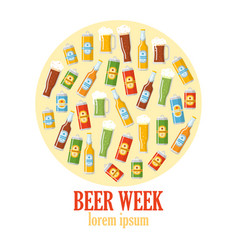 beer week colorful poster vector image