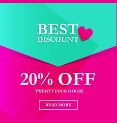 best discount 20 off vector image