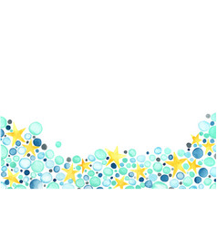 blue bubble and yellow star watercolor vector image