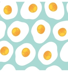 Breakfast seamless pattern with scrambled eggs vector