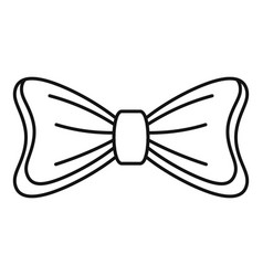 Bride bow tie icon outline style vector