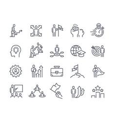 Business coach icon collection vector