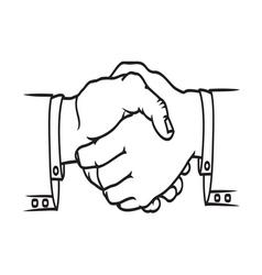 Bussines handshake2 resize vector image