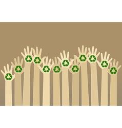 carton hands vector image
