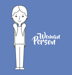 Cartoon woman person vector