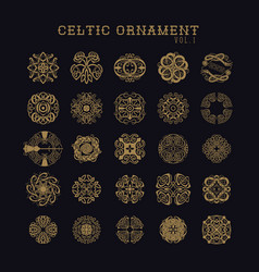 Celtic ornament collection set vector