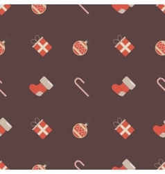 Christmas pattern with holiday elements vector