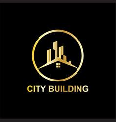 City building business logo vector