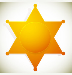 Classic western sheriff badge sheriff star vector
