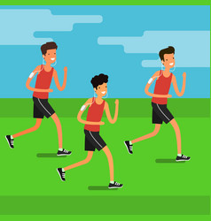 concept sport and activity people vector image