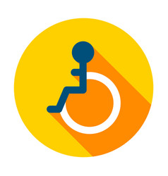 disabled circle icon vector image