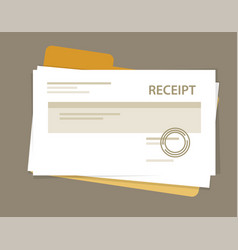 Document receipt paper pile book keeping vector