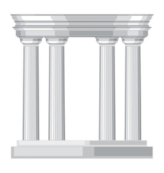Doric realistic antique greek temple with columns vector