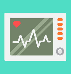 ecg machine flat icon medicine vector image