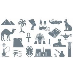 Egyptian symbols vector