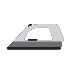 Flat color ironing icon vector