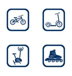 flat design icons sport set vector image