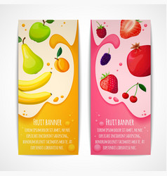 Fruits banners vertical vector image