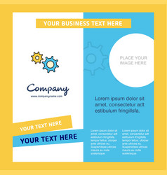 gear company brochure template busienss template vector image