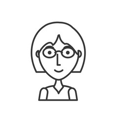 girl with glasses vector image