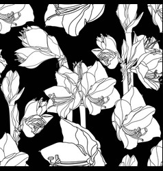 Hand drawn sketch lilies flowers vector
