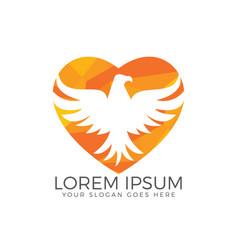 hawk or eagle logo design vector image