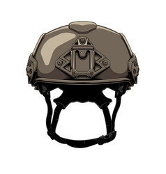 Helmet military vector