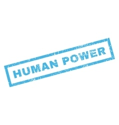 Human Power Rubber Stamp vector image vector image