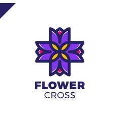 isolated abstract colorful cross logo medical vector image