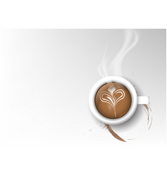 Isolated cup of coffee collection latte vector