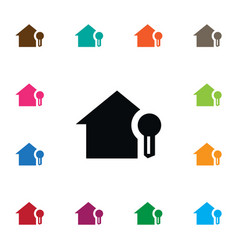 isolated house icon home element can be vector image