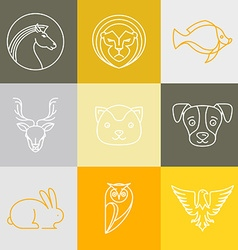 linear logos and signs vector image vector image