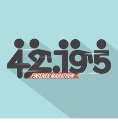 Marathon Finisher Typography Design vector image