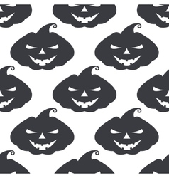 monochrome pattern pumpkin with scary face vector image