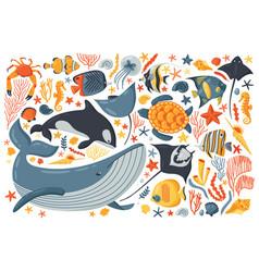 ocean colour set vector image