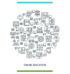 online education line concept vector image